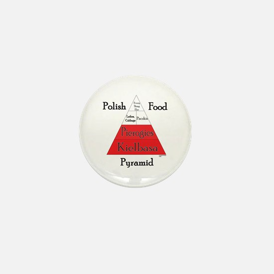 Polish Food Pyramid Mini Button