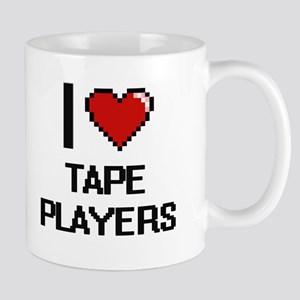 I love Tape Players Digital Design Mugs