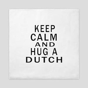 Keep Calm And Dutch Designs Queen Duvet