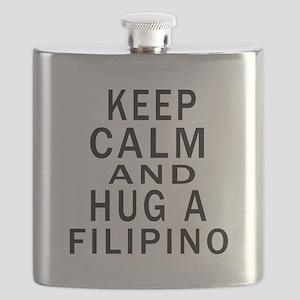 Keep Calm And Filipino Designs Flask