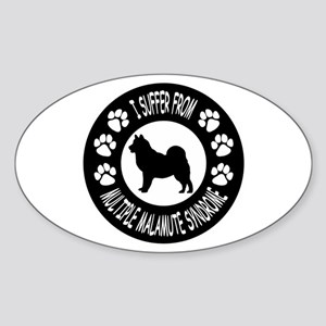 Alaskan Malamute Sticker (Oval)