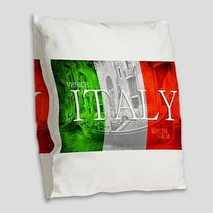 VENICE ITALY GONDOLA Burlap Throw Pillow