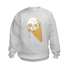 Cute Skull Ice Cream Cone Sweatshirt