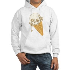Cute Skull Ice Cream Cone Hoodie