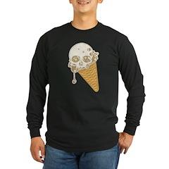 Cute Skull Ice Cream Cone Long Sleeve T-Shirt