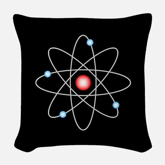 Atomic Woven Throw Pillow