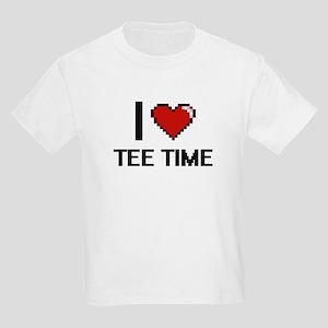 I love Tee Time Digital Design T-Shirt