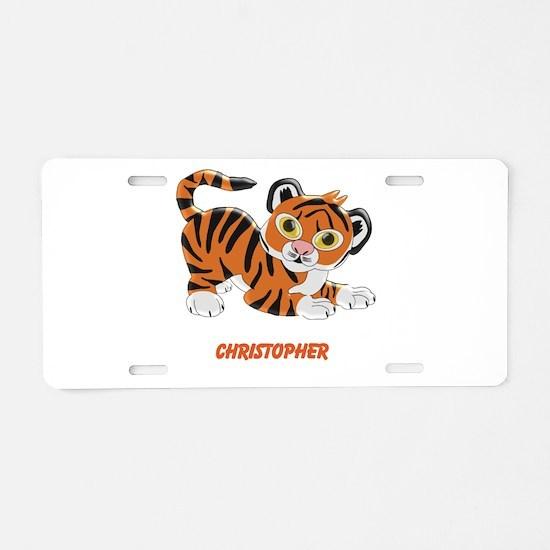 Personalized Tiger Design Aluminum License Plate