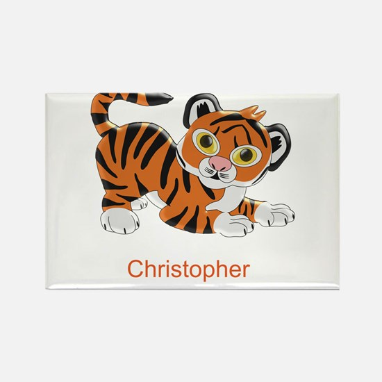 Personalized Tiger Design Magnets