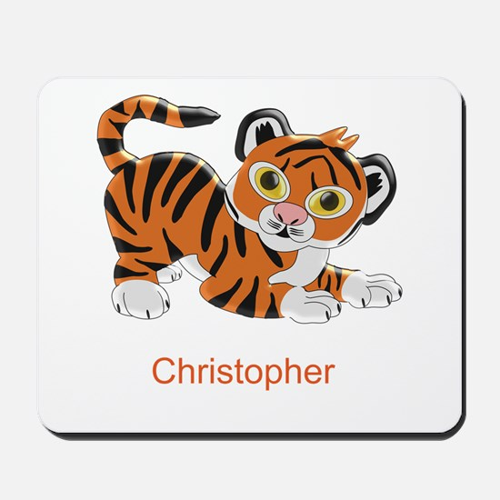 Personalized Tiger Design Mousepad