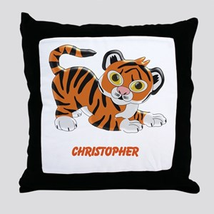 Personalized Tiger Design Throw Pillow