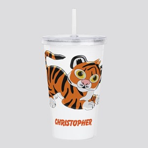 Personalized Tiger Design Acrylic Double-wall Tumb