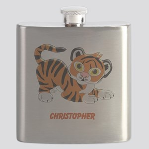 Personalized Tiger Design Flask