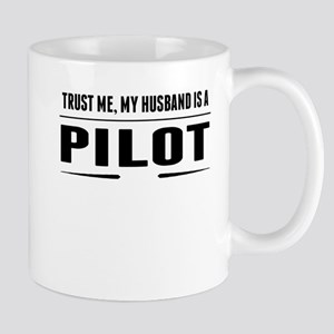 My Husband Is A Pilot Mugs