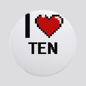 I love Ten Digital Design Round Ornament