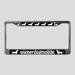 "Dachshund ""Wienerdogmobile"" License Plate Frame"