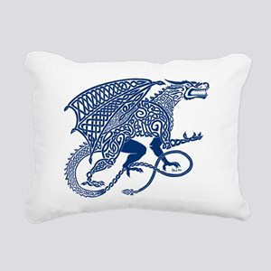 Celtic Knotwork Dragon, Rectangular Canvas Pillow