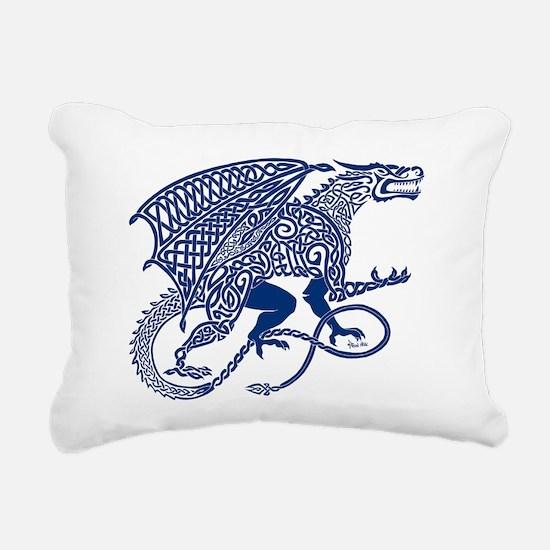Celtic Knotwork Dragon, Rectangular Canvas Pillow