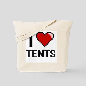 I love Tents Digital Design Tote Bag