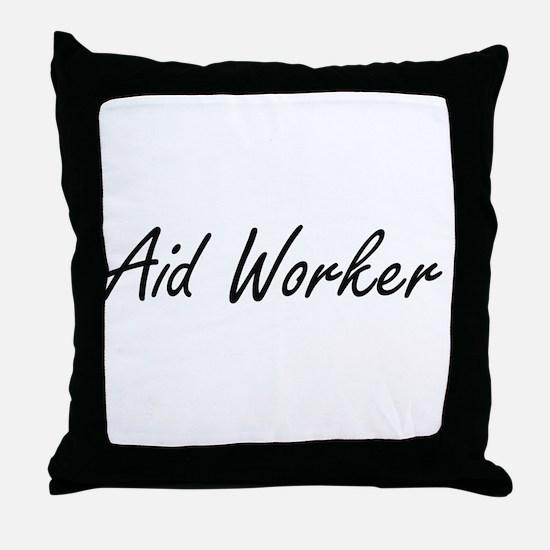 Aid Worker Artistic Job Design Throw Pillow