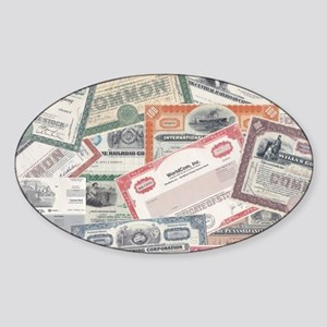 stock certificate collection Sticker