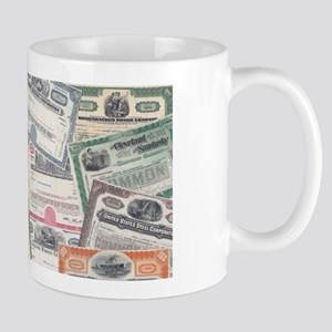 Stock Cert Collage Mugs