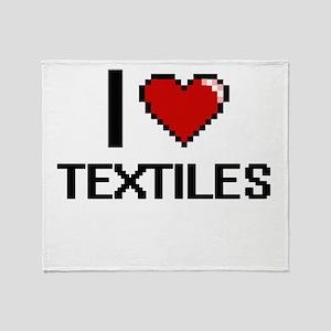 I love Textiles Digital Design Throw Blanket
