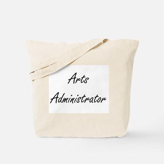 Arts Administrator Artistic Job Design Tote Bag