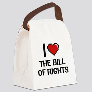 I Love The Bill Of Rights Digital Canvas Lunch Bag