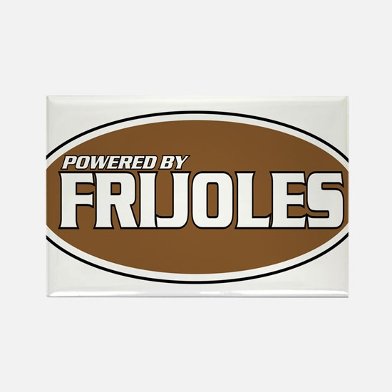 Powered By Frijoles Rectangle Magnet