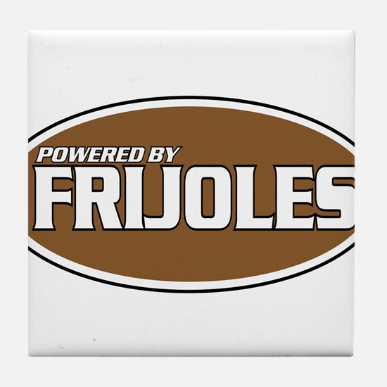 Powered By Frijoles Tile Coaster