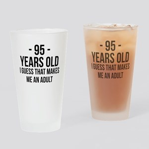95 Years Old Adult Drinking Glass