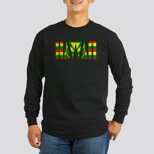 Hawaii kanaka flag Long Sleeve T-Shirt