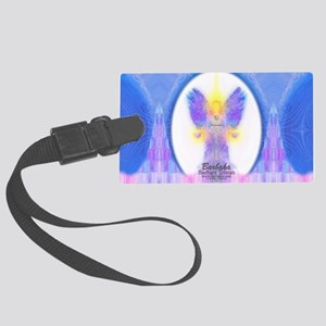 444 Angel Crystals Large Luggage Tag