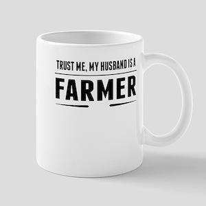 My Husband Is A Farmer Mugs