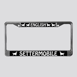 English Settermobile License Plate Frame