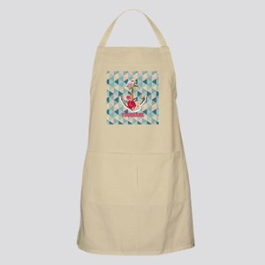 Vintage Floral Anchor Personalized Apron