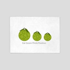 Fruits Positive Vegan Diet 5'x7'Area Rug