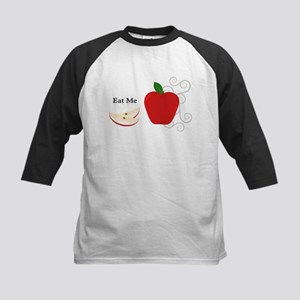 Red Apple Eat Me Illustration Baseball Jersey