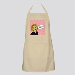 Nerdy Blonde Lady Personalized Apron