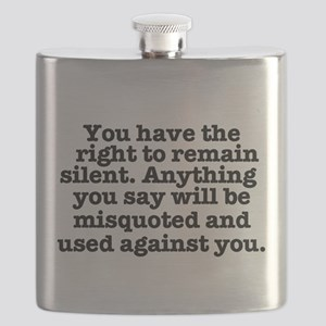 YOU HAVE THE RIGHT TO REMAIN SILENT - MIRAND Flask