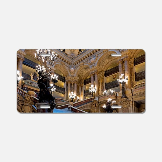Stunning! Paris Opera Aluminum License Plate