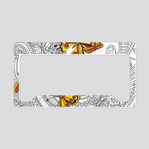 Butterfly Sketch 2 License Plate Holder