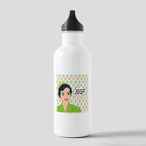 Custom Text Pop Art Wo Stainless Water Bottle 1.0L