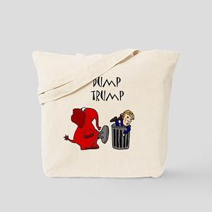 Funny Dump Trump Political Cartoon Tote Bag