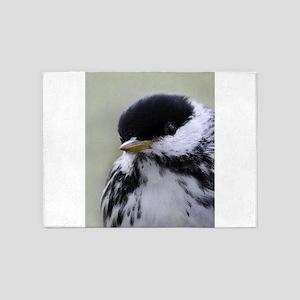 Blackpoll Warbler 5'x7'Area Rug
