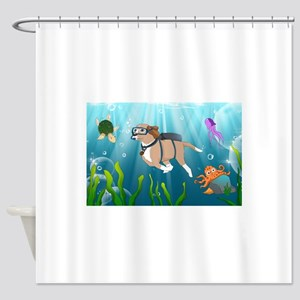 Thor in the Sea Shower Curtain