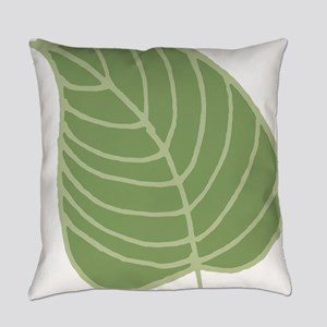 Tropical Leaf Illustration Everyday Pillow