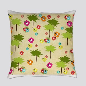 Tropical Island Palm Trees Hibiscus Pattern Everyd