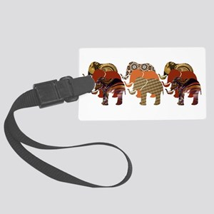 Lots of Elephants Design 4 Large Luggage Tag